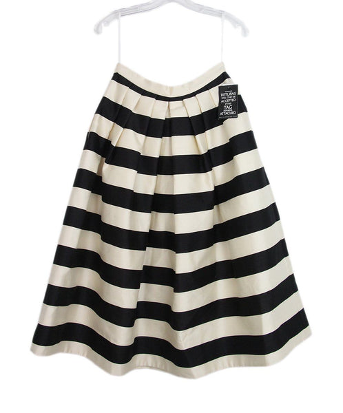Tibi black white striped skirt 1