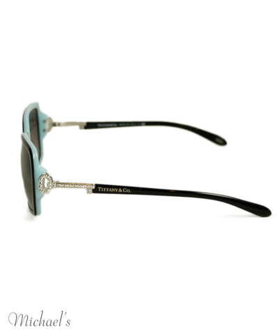 Tiffany & Co. Turquoise Plastic Crystal Sunglasses 1