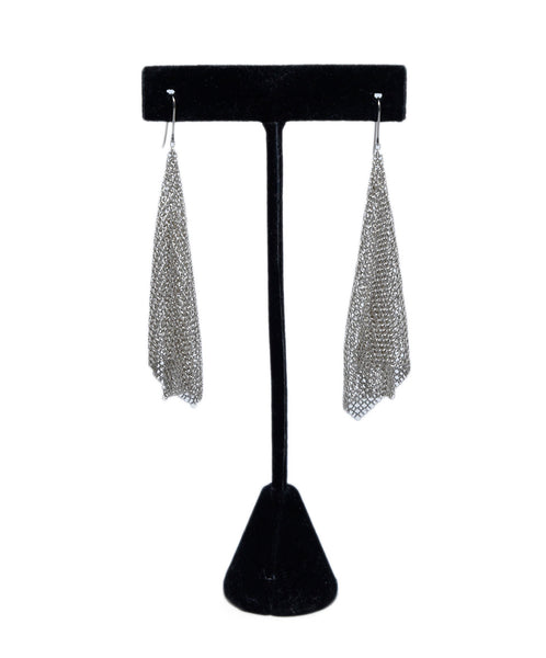Tiffany & Co. Metallic Mesh Jewelry Earrings 1