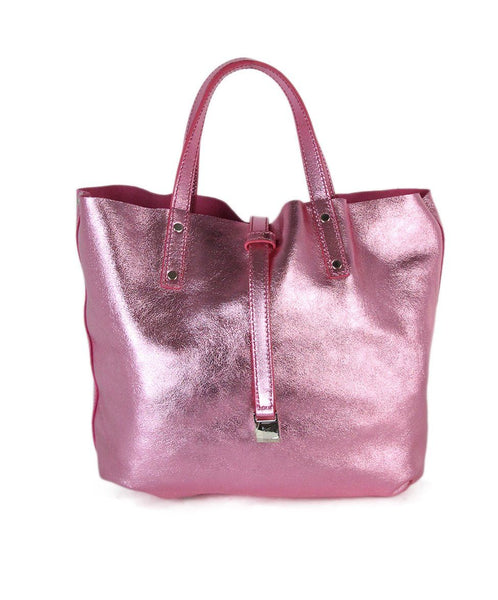 Tiffany & Co. metallic pink suede reversible tote 1