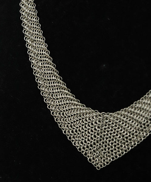 Necklace Tiffany & Co. Sterling Silver Mesh W/Pouch Jewelry 3