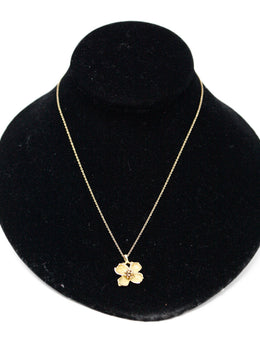 Tiffany & Co. Vintage Dogwood Flower Pendant 18K gold necklace