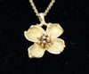 Tiffany & Co. Vintage Dogwood Flower Pendant 18K gold necklace 2