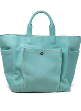 Tiffany and Co Blue Canvas Tote