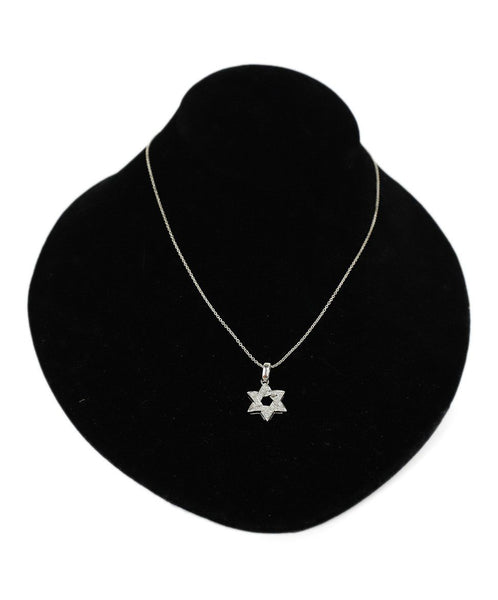 Necklace Tiffany & Co. Sterling Silver Diamond Star of David Jewelry 1