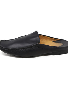 Tod's Black Leather Mules 2