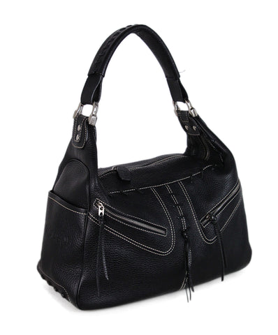 Tod's Black Leather Shoulder Bag 1