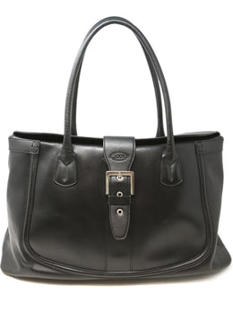 Tod's Black Leather Tote Bag 1
