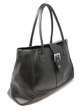 Tod's Black Leather Tote Bag 2