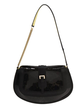 Tod's Black Sequins Shoulder Bag