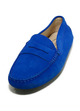 Tod's Blue Suede Driving Loafers 1