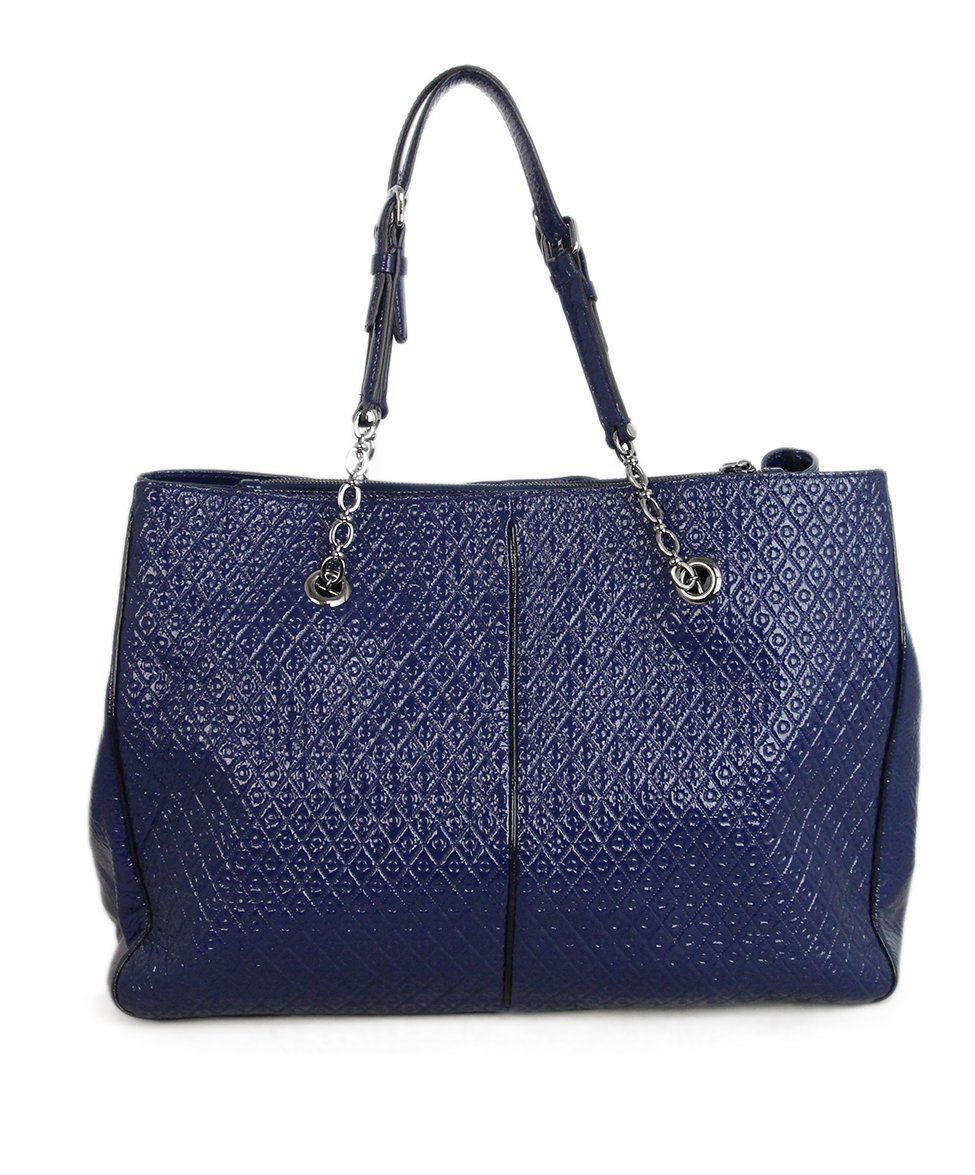 Tod's Blue Patent Leather Tote 1