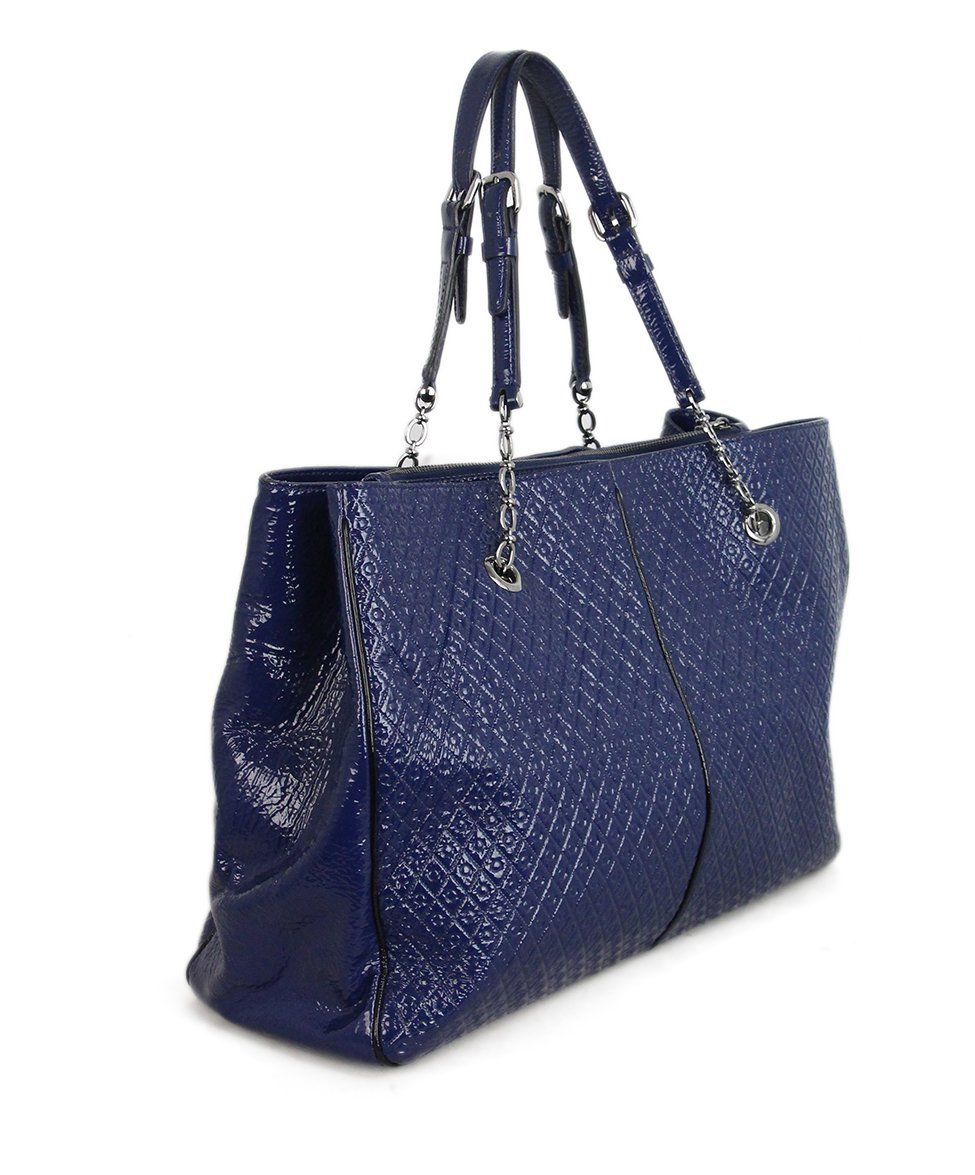 Tod's Blue Patent Leather Tote 2