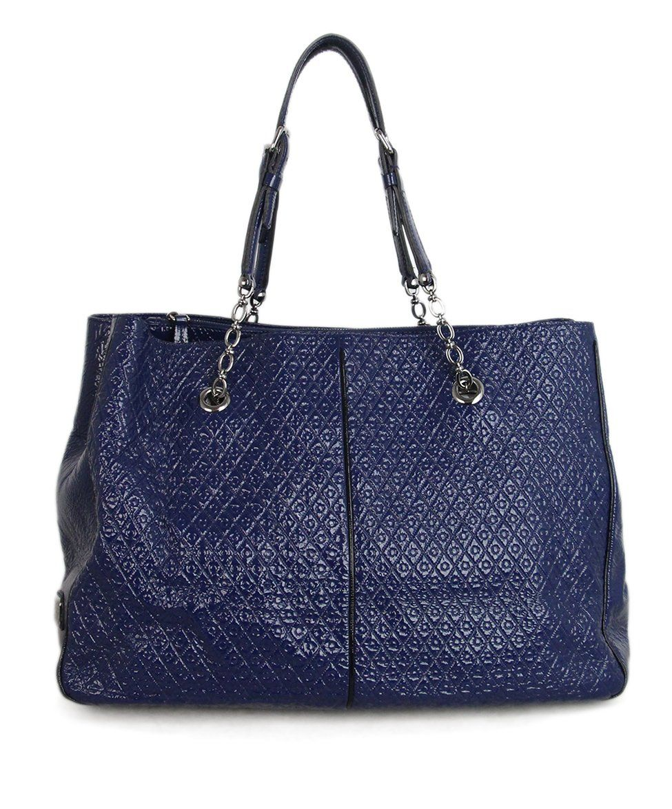 Tod's Blue Patent Leather Tote 3