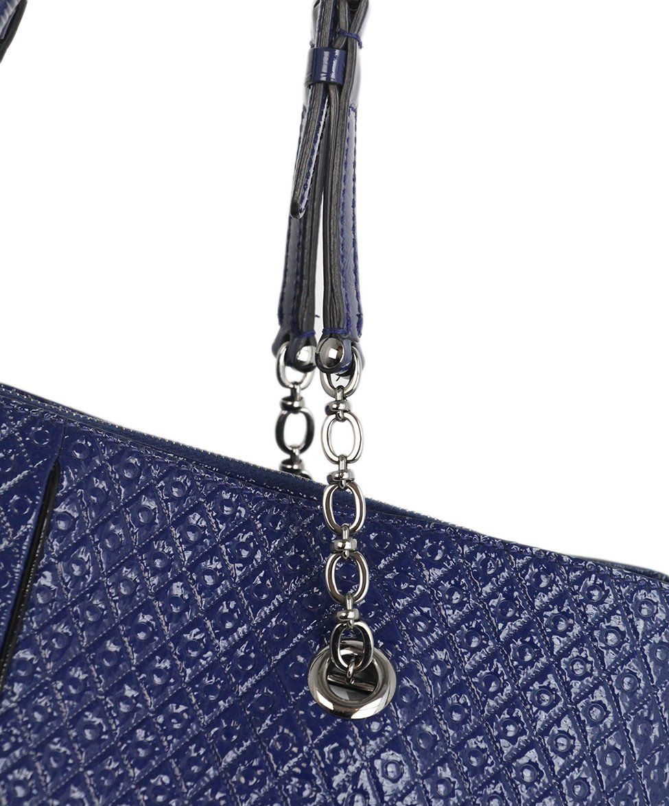 Tod's Blue Patent Leather Tote 8