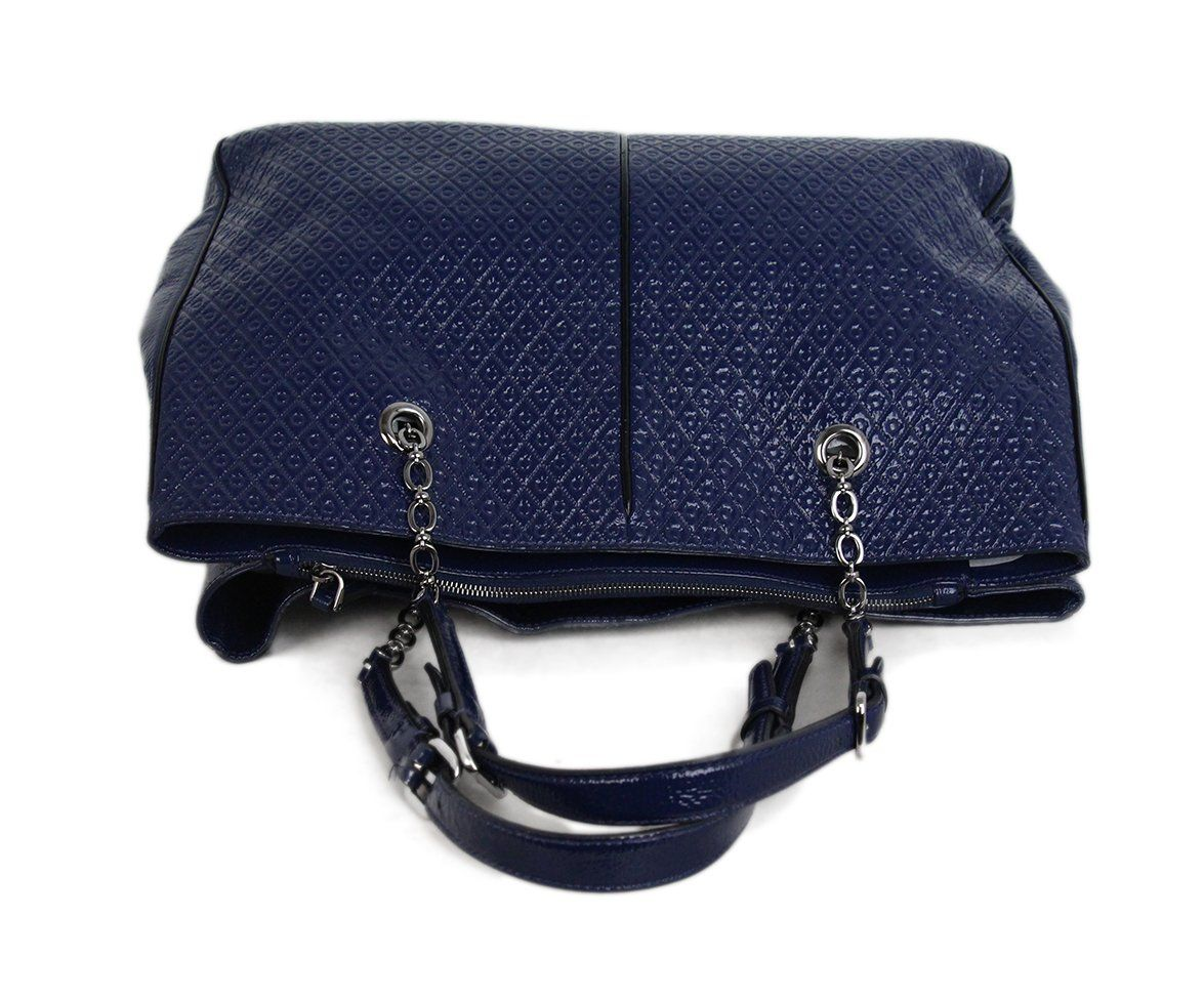 Tod's Blue Patent Leather Tote 5