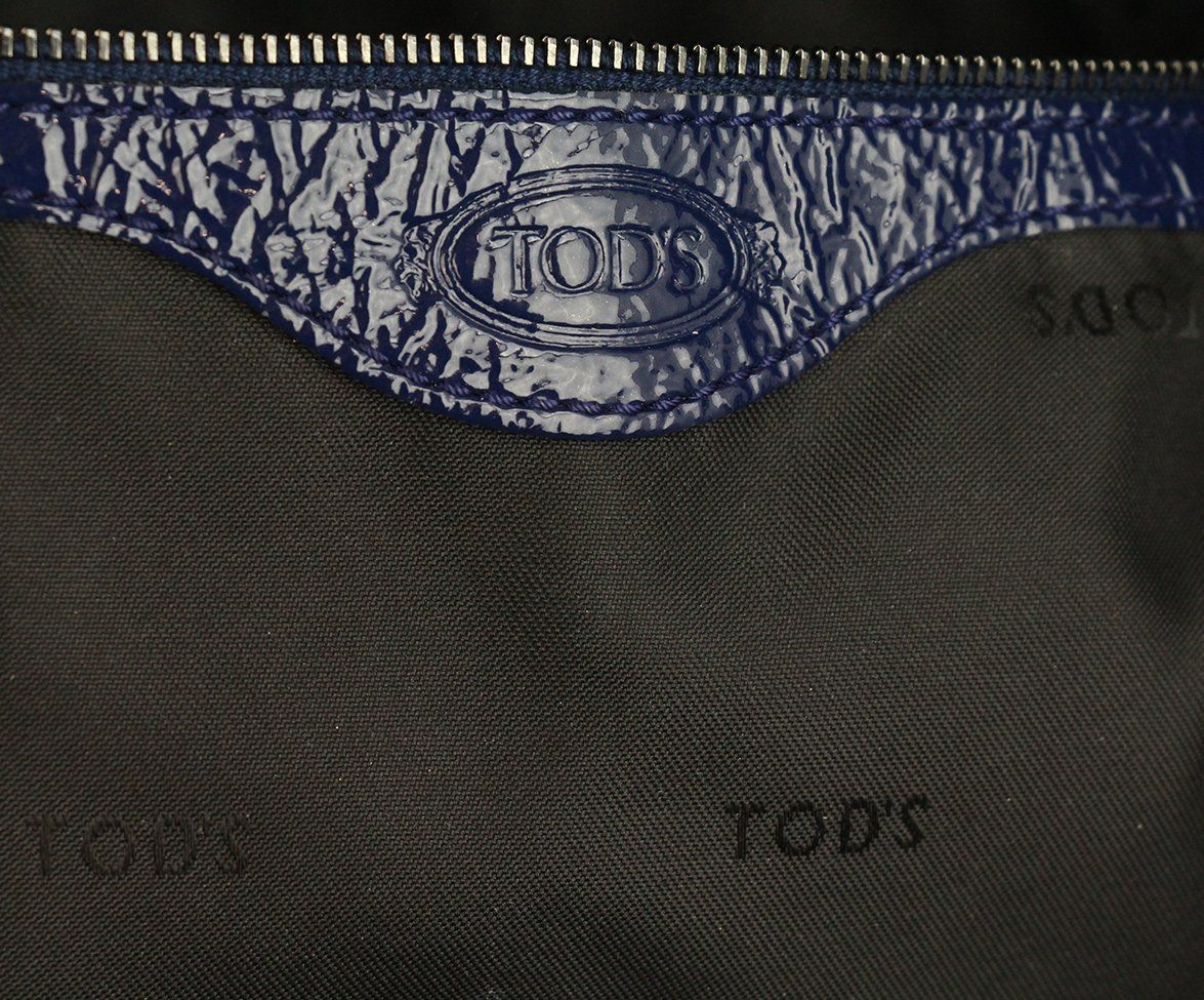 Tod's Blue Patent Leather Tote 7