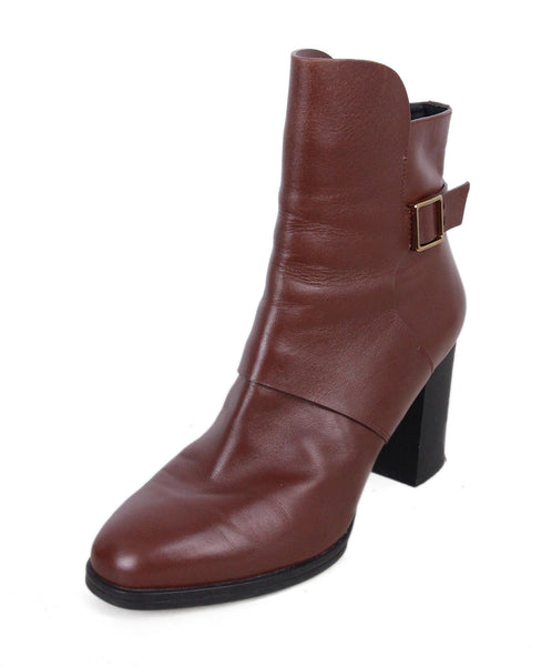 Tod's Brown Leather Booties 1