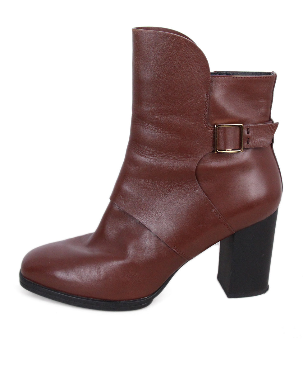 Tod's Brown Leather Booties 2