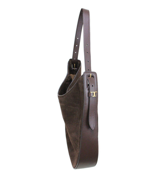 Tod's Brown Suede Handbag 1