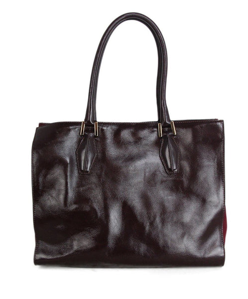 Tod's Burgundy Patent Leather Tote 1