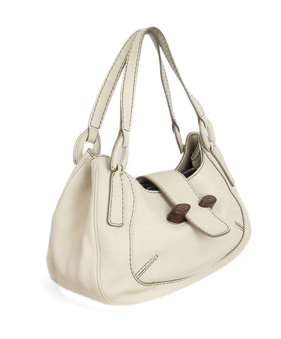 Tod's Ivory Leather Shoulder Bag 1