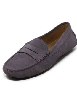 Loafers Tod's Shoe Size US 8 Purple Lilac Suede Shoes