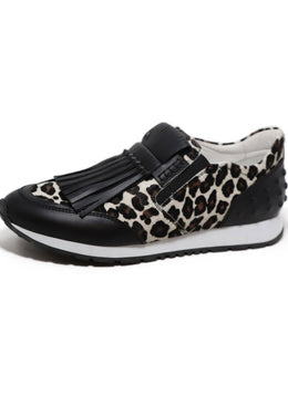 Tod's Slip On Animal Print Sneakers 1