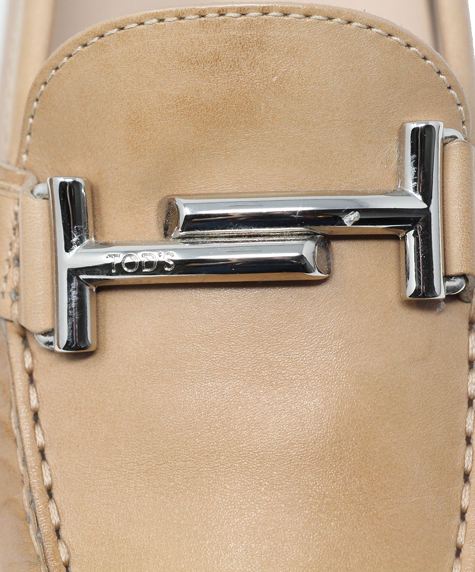 Tod's Tan Leather Flats 8