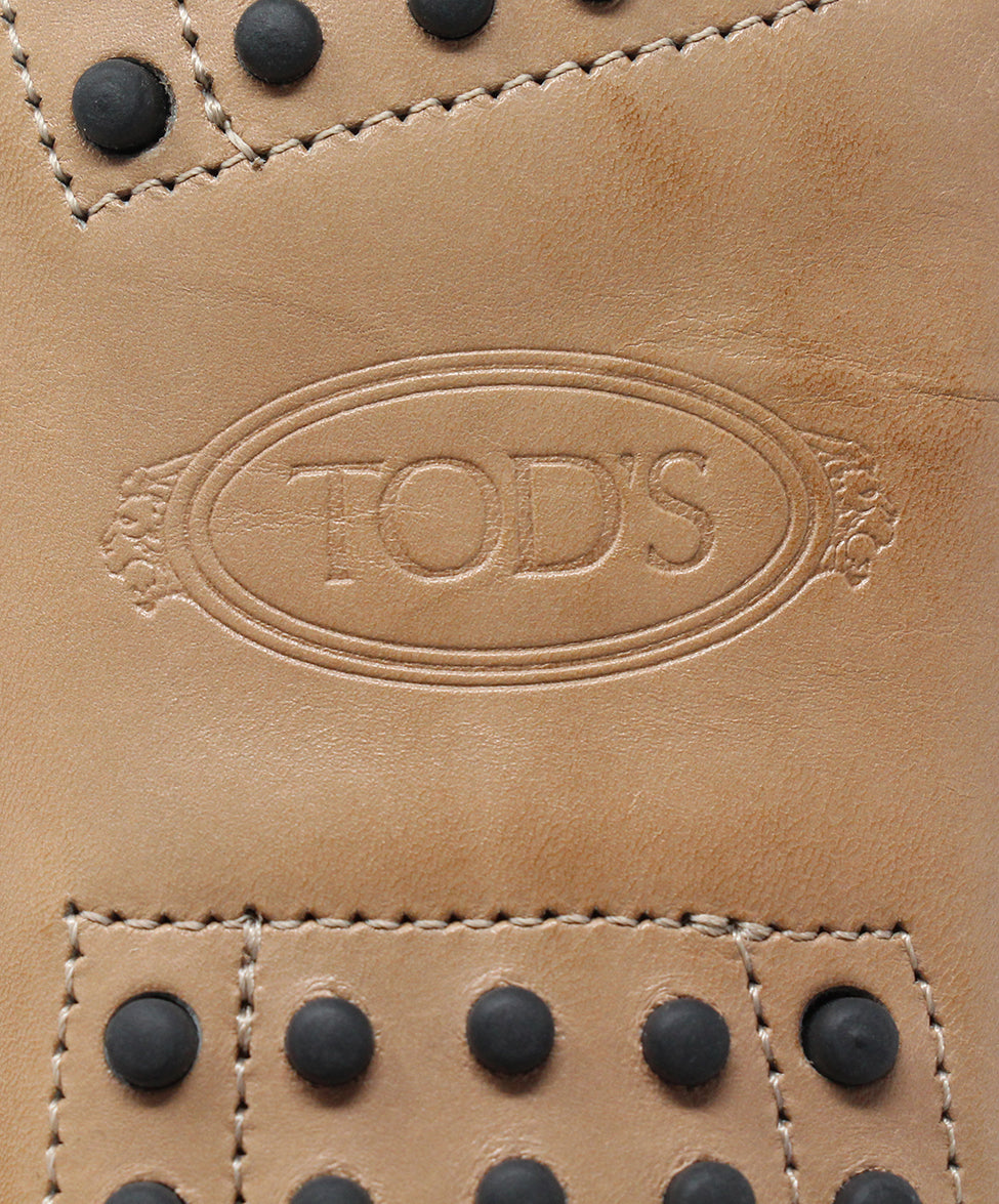 Tod's Tan Leather Flats 6