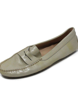 Tod's Taupe Patent Leather Loafers 1