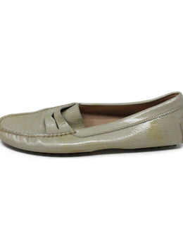 Tod's Taupe Patent Leather Loafers 2