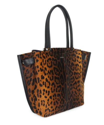 Tod's animal print pony hair tote 1