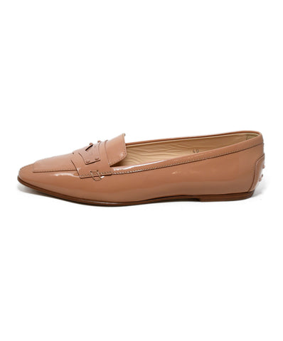Tod's Neutral Beige Patent Leather Flats 1