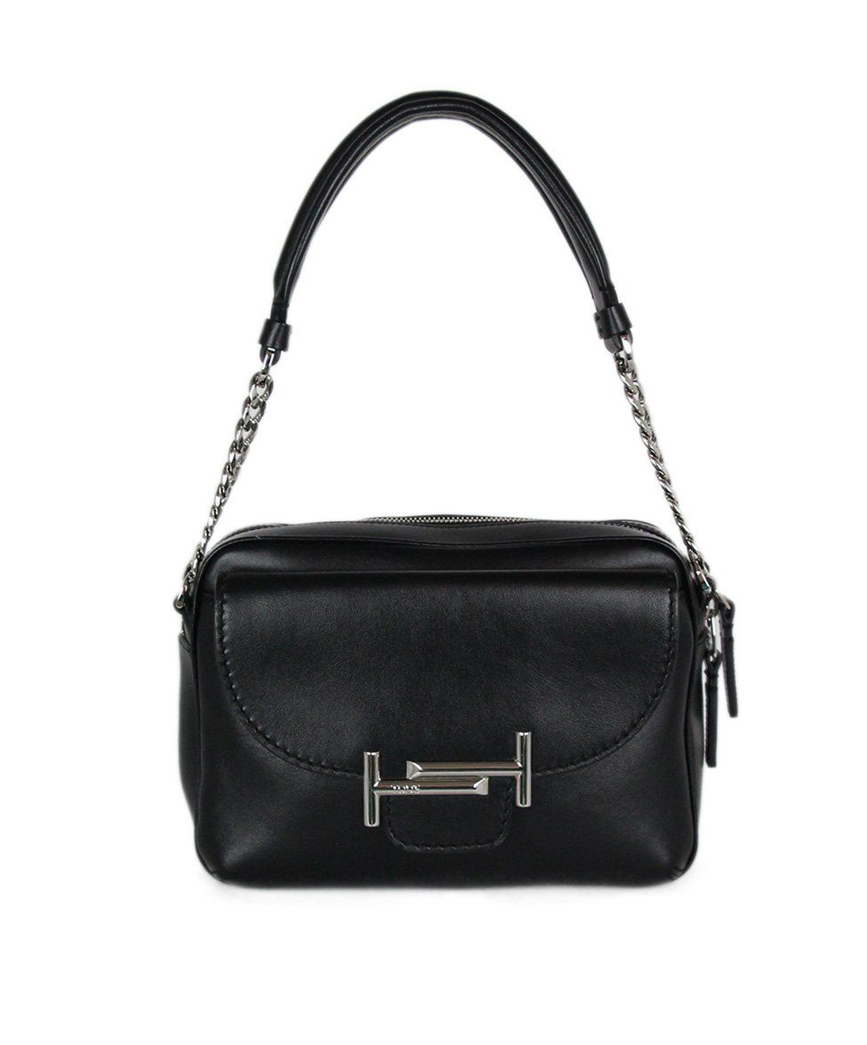 Tod's Black Leather Crossbody Handbag 1