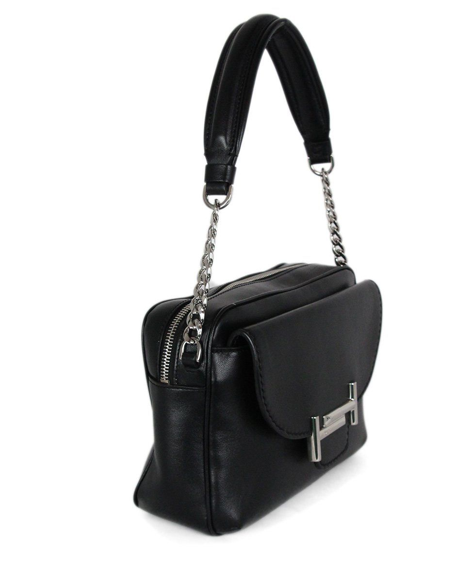 Tod's Black Leather Crossbody Handbag 2