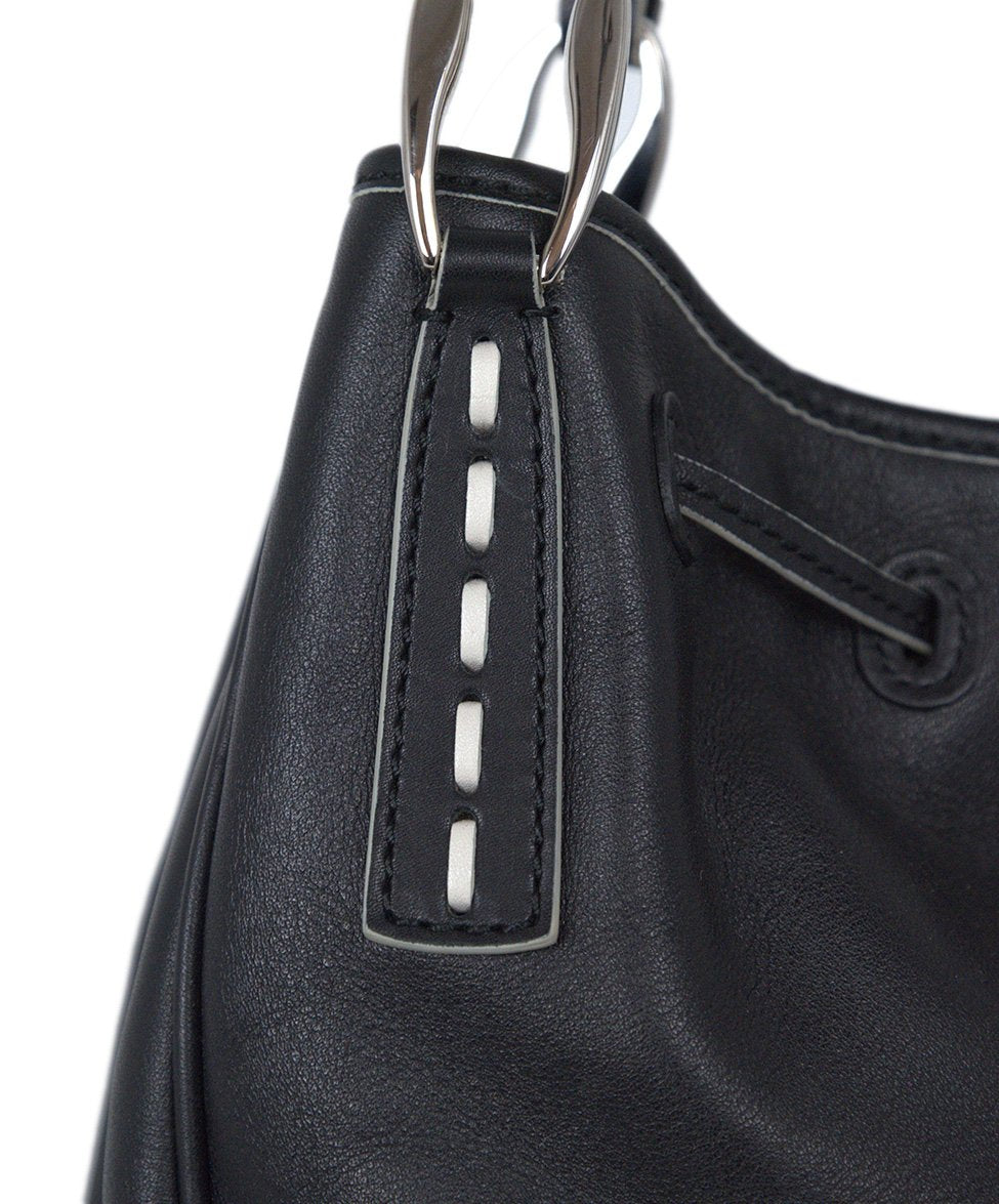 Tod's Black Leather Bag Shoulder Bag Handbag 8
