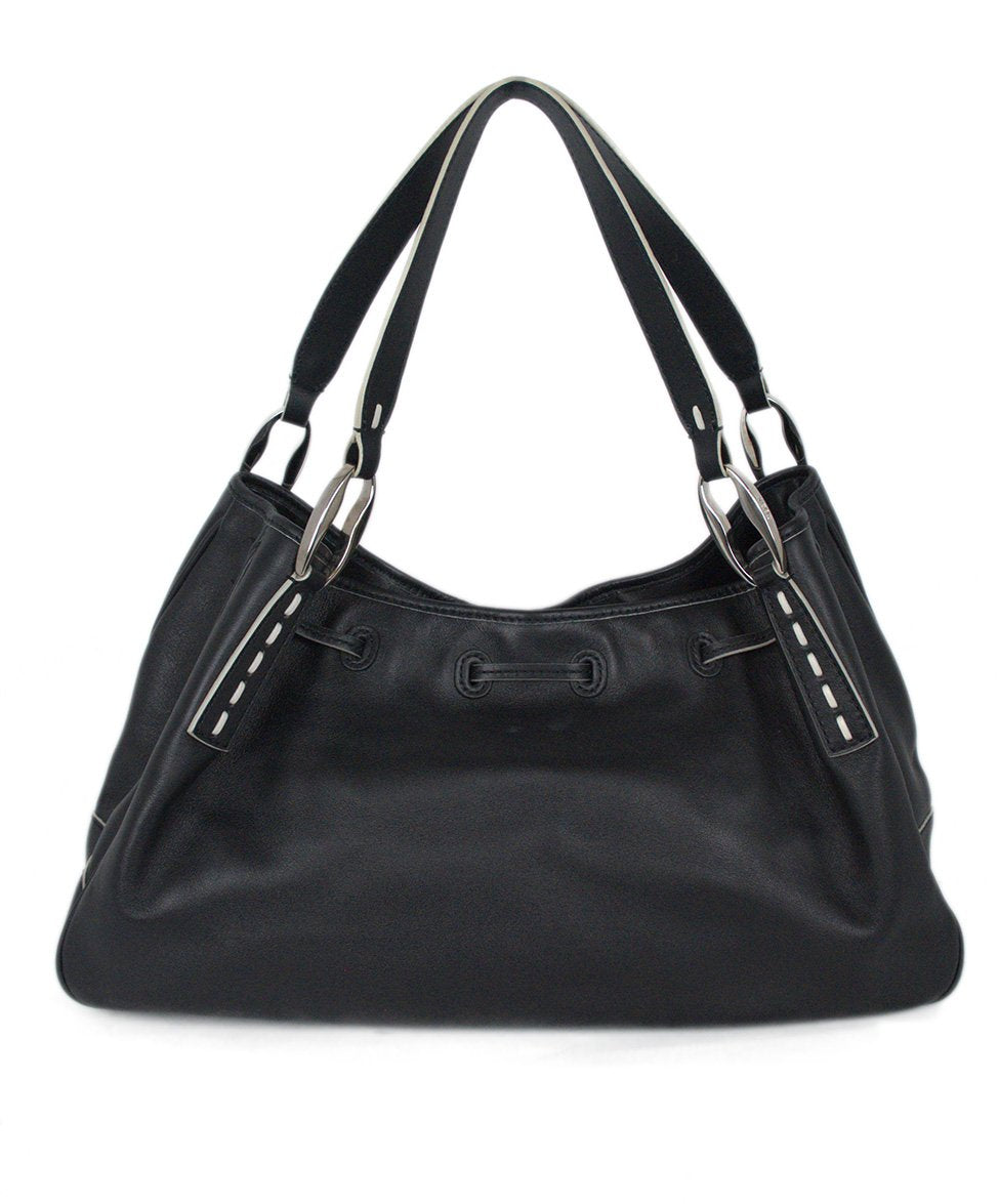 Tod's Black Leather Bag Shoulder Bag Handbag 2
