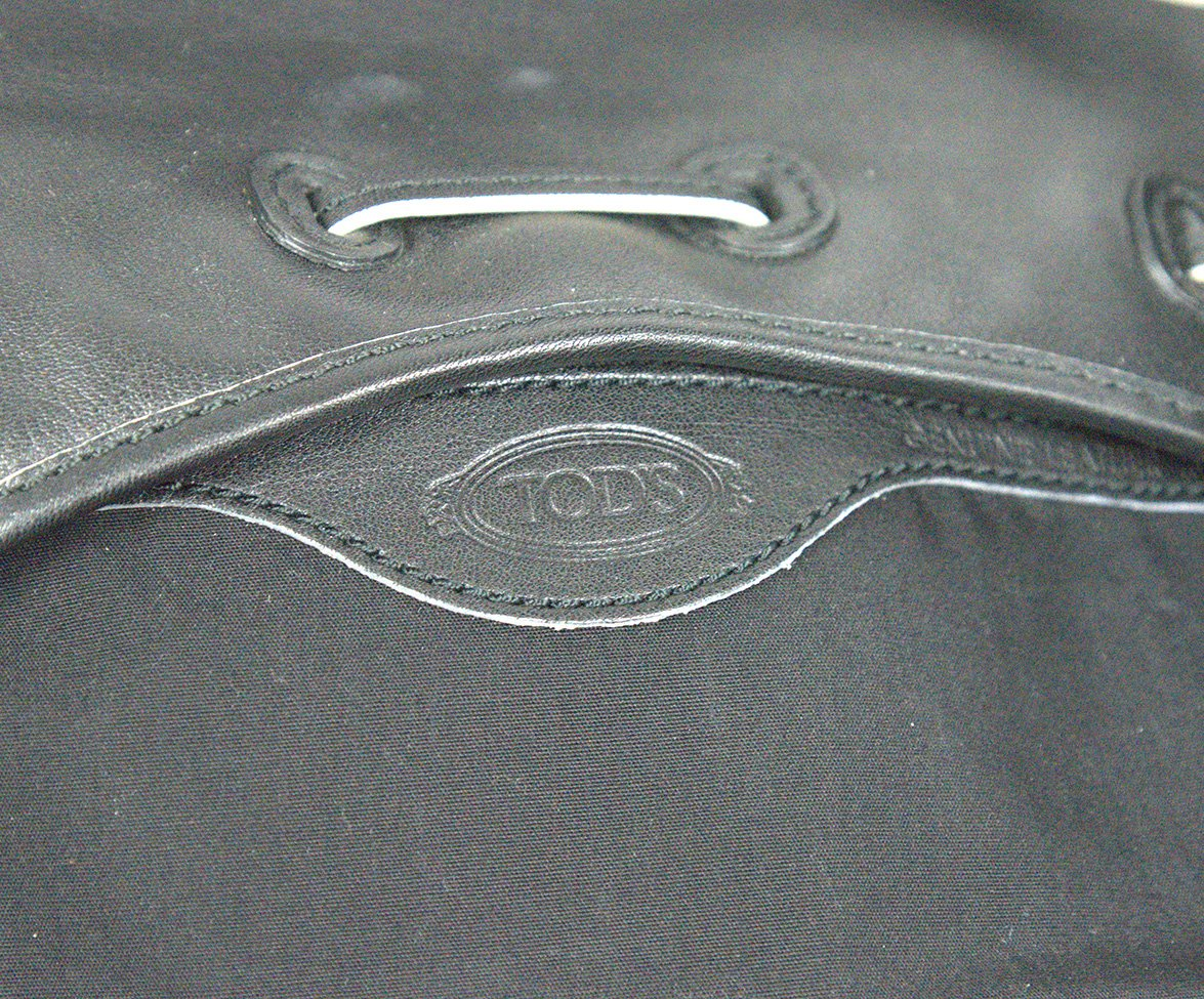 Tod's Black Leather Bag Shoulder Bag Handbag 6