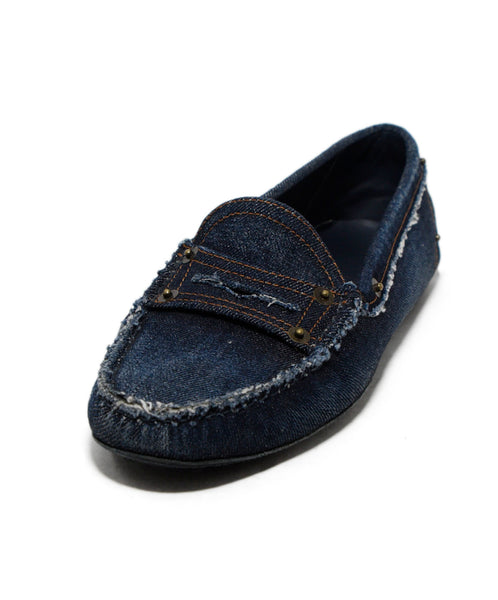 Tod's Blue Denim Loafers 1