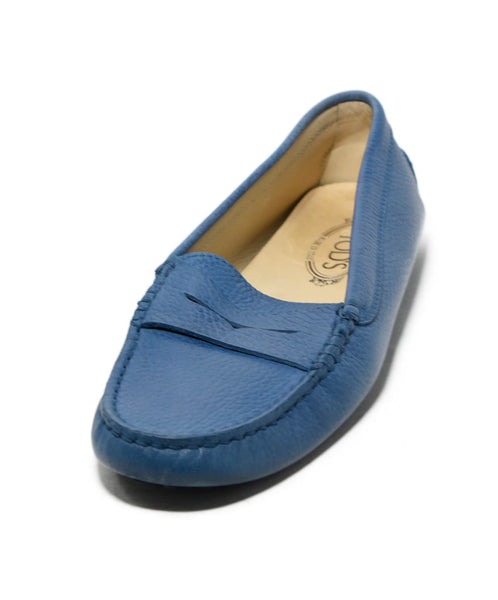 Tod's Oxford Blue Leather Shoes Loafers 1