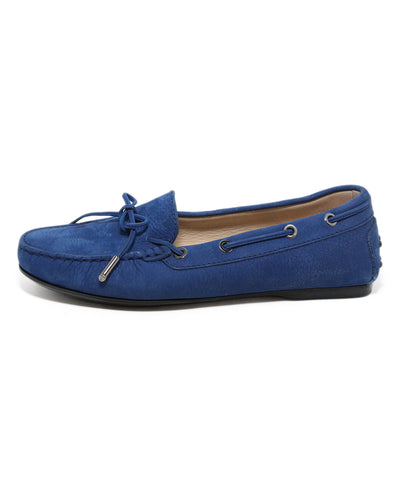Tod's blue suede loafers 1