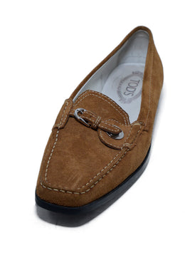 Tod's Brown Tan Suede Rubber Loafers 1