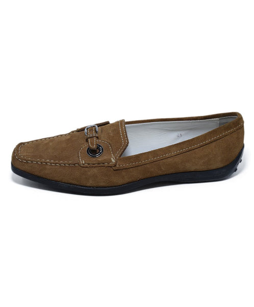 Tod's Brown Tan Suede Rubber Loafers 2
