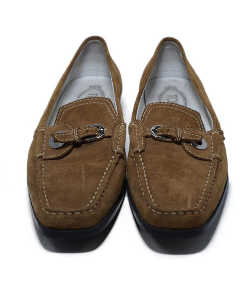 Tod's Brown Tan Suede Rubber Loafers 4