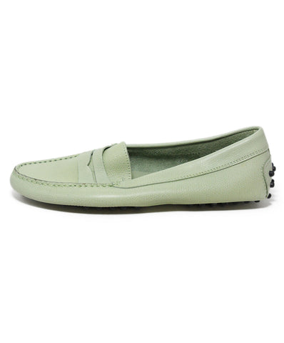 Tod's Green Light Leather Flats 1