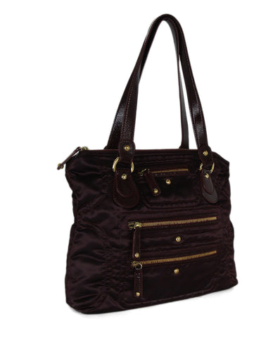 Tod's leather trim tote 1