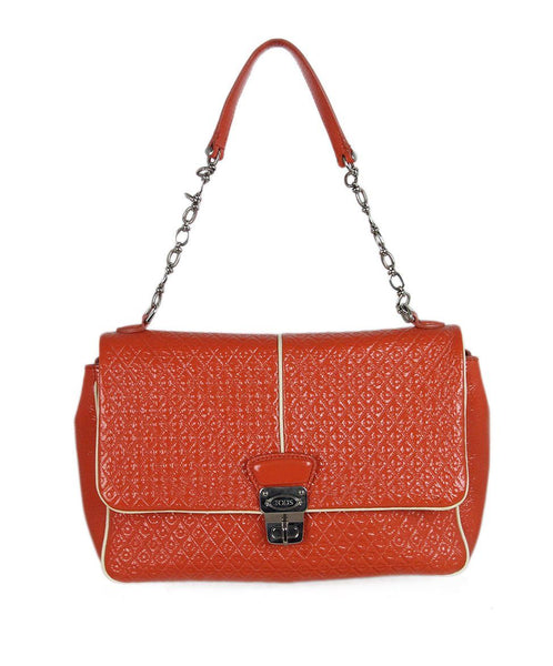 Tod's orange patent leather shoulder bag 1
