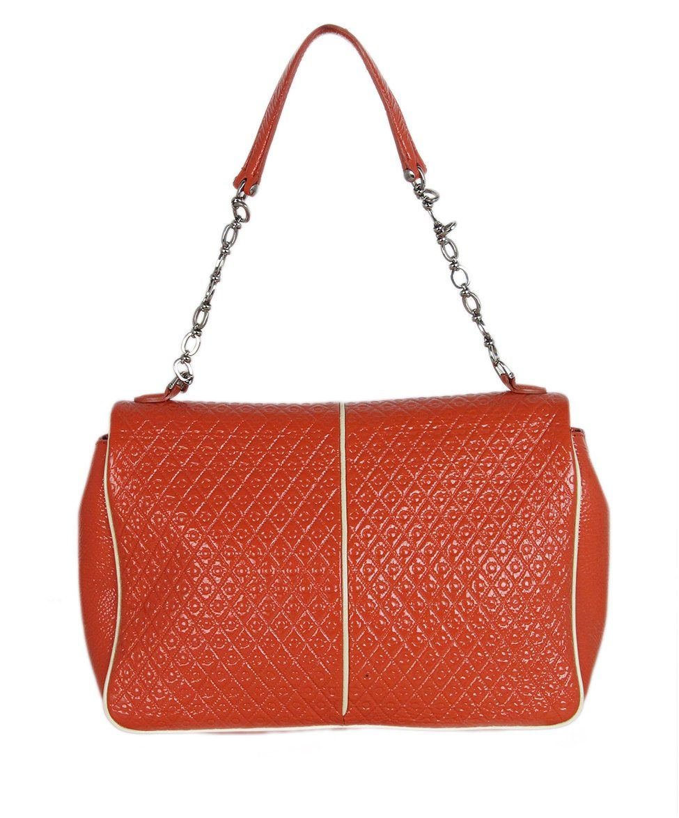 Tod's orange patent leather shoulder bag 3