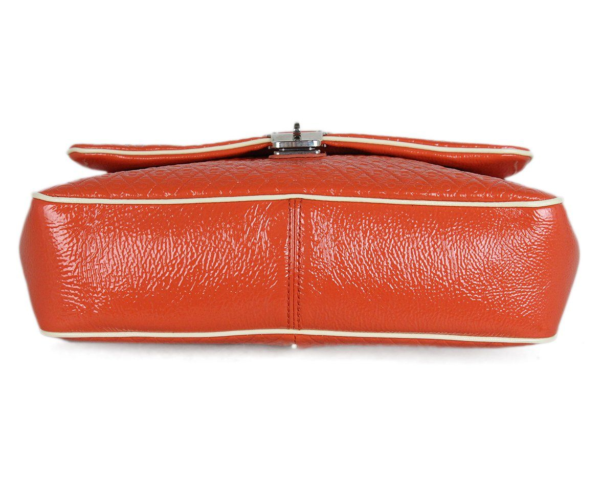 Tod's orange patent leather shoulder bag 4
